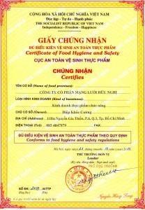 Quy trình xin giấy phép vệ sinh an toàn thực phẩm