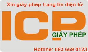 Xin giấy phép ICP