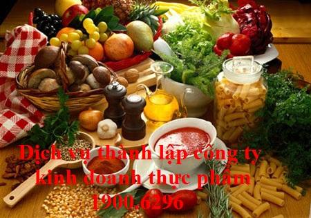 Dịch vụ thành lập công ty kinh doanh thực phẩm