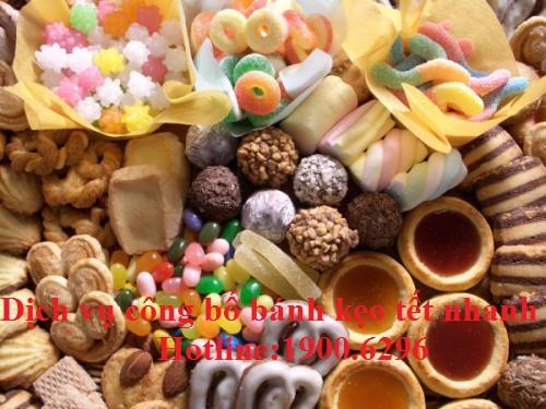 Dịch vụ công bố bánh kẹo nhanh
