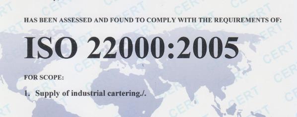 Tư vấn xin giấy chứng nhận iso 22000,HACCP