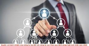 Quyền và trách nhiệm của công ty mẹ đối với công ty con theo quy định pháp luật mới nhất năm 2020