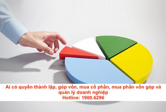 Ai có quyền thành lập, góp vốn, mua cổ phần, mua phần vốn góp và quản lý doanh nghiệp