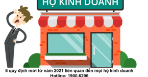6 quy định mới từ năm 2021 liên quan đến mọi hộ kinh doanh