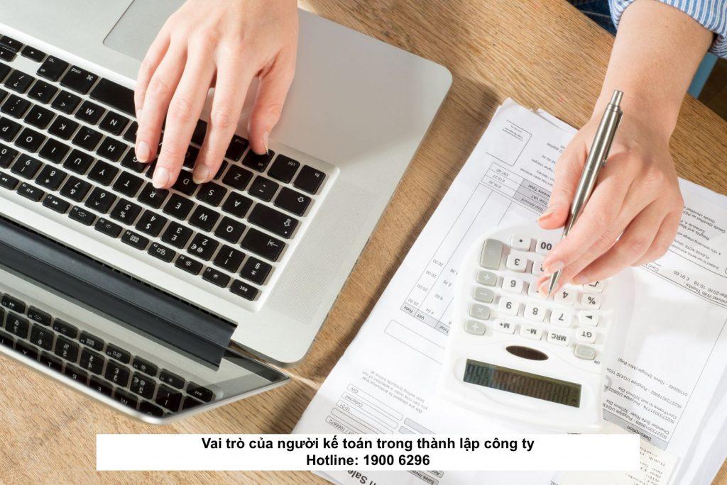 Vai trò của người kế toán trong thành lập công ty