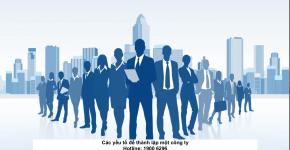 Các yếu tố để thành lập một công ty