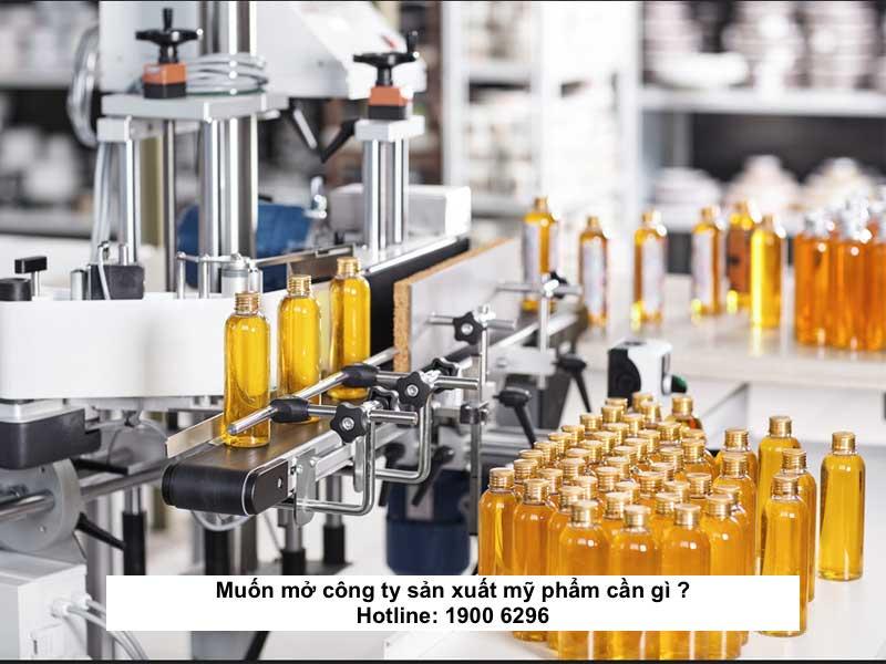 Muốn mở công ty sản xuất mỹ phẩm cần gì ?